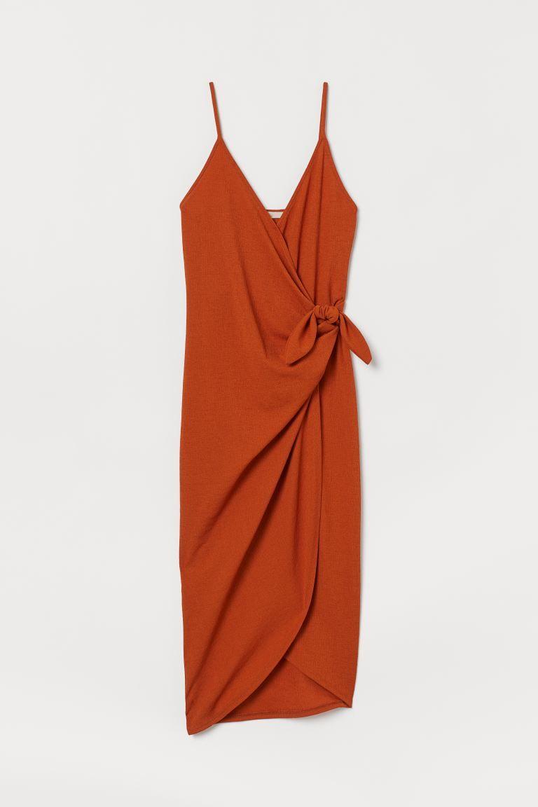 Photo of Wrap Dress with Ties – Rust – Ladies | H&M US