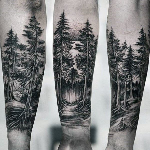 4a663b627fa0c 100 Forest Tattoo Designs For Men - Masculine Tree Ink Ideas ...