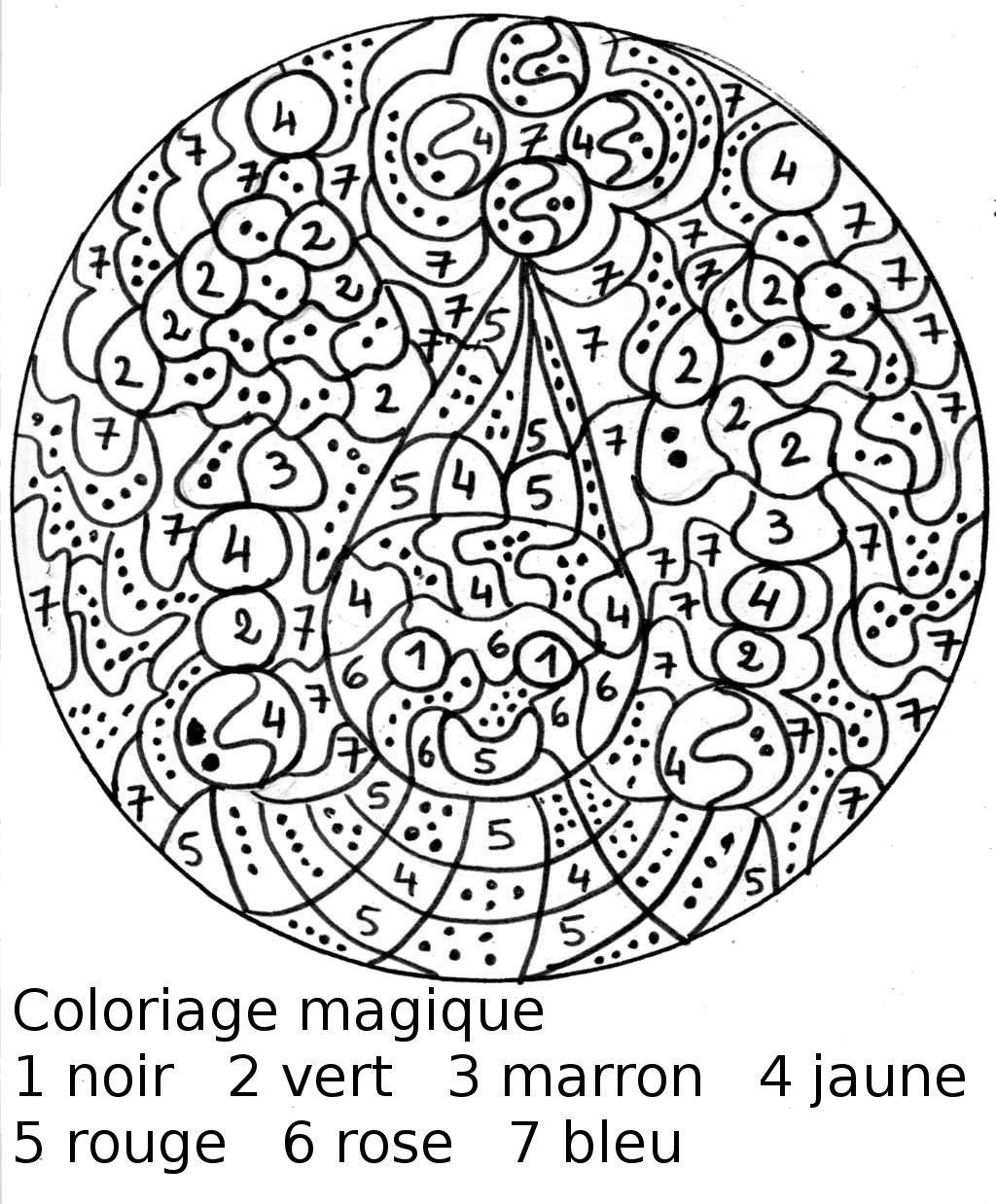 Coloriage Magique De Noel