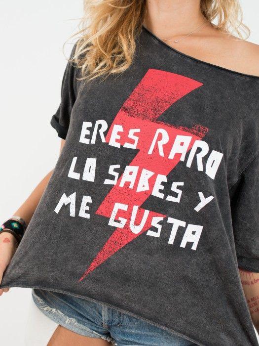 Camiseta Aire Retro Talla única Eres Raro Lo Sabes Y Me Gusta Ropa Moda Moda Para Mujer