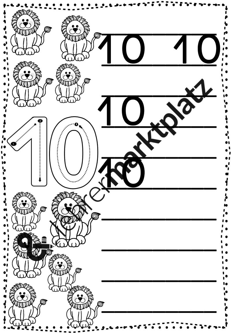 Ziffern Sicher Und Richtig Schreiben Bis 20 Mathe In Der