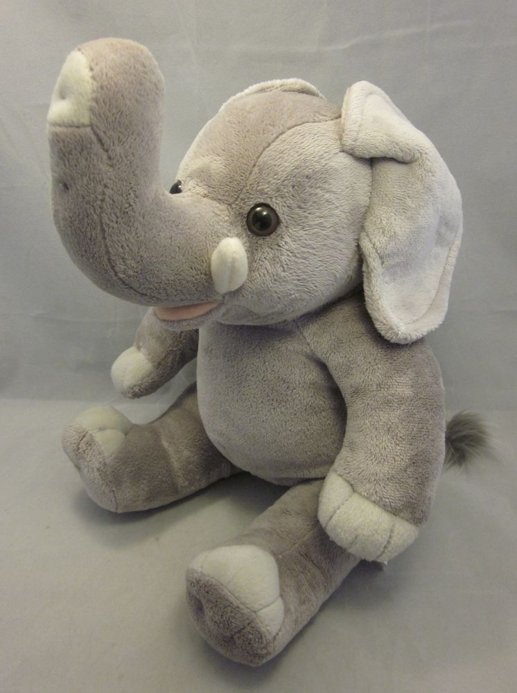 Build A Bear Gray Elephant With Its Trunk Up Which Is A Symbol Of