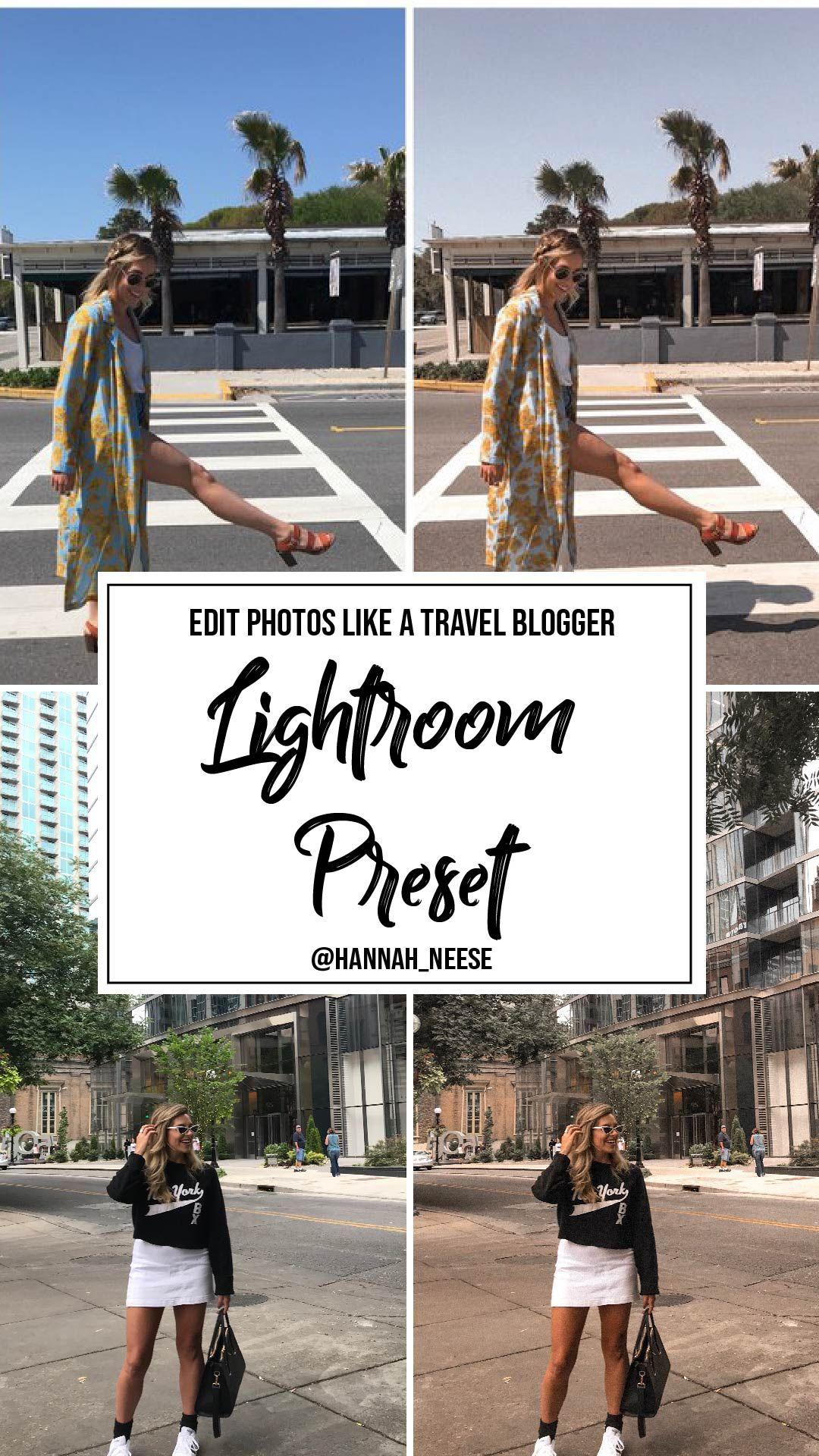 INSTANT DOWNLOAD - Travel Blogger Lightroom Preset, how