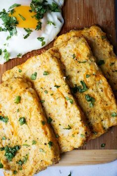 Cauliflower hash browns.  Good idea, but I would omit the egg.  I would parboil the cauliflower, squeeze out the excess water, mix with cheese and fry them up.