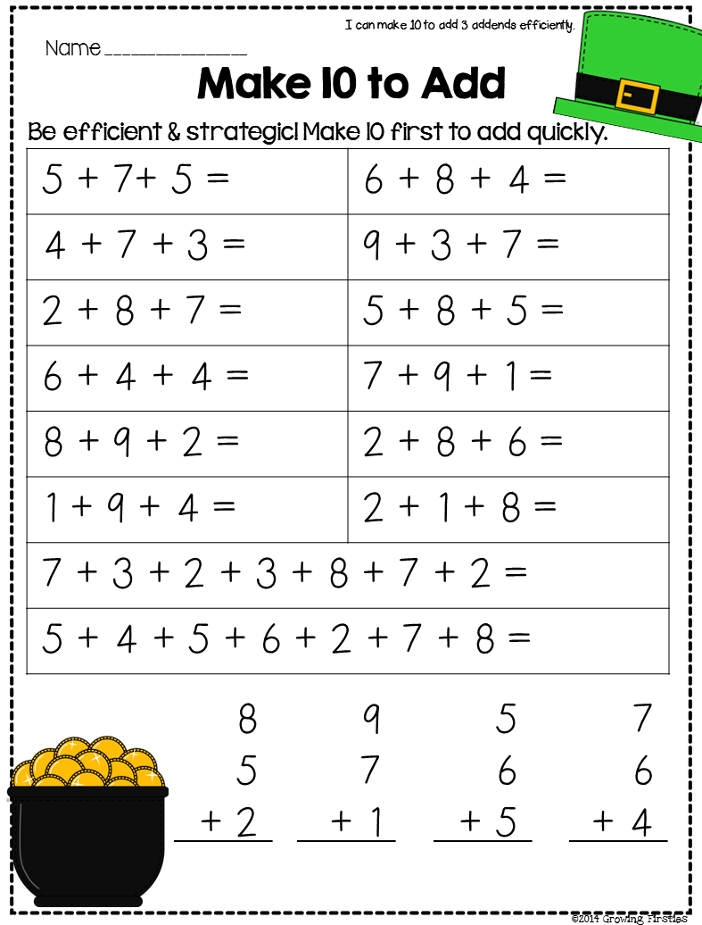Growing Firsties: Common Core Crunch - March...ELA \u0026 Math   First grade  math worksheets [ 1036 x 787 Pixel ]