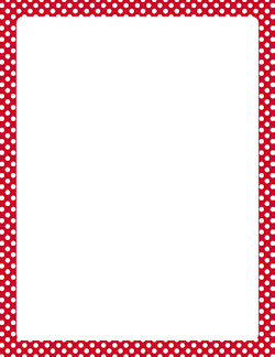 Red And White Polka Dot Border מסגרות Bordures De Page
