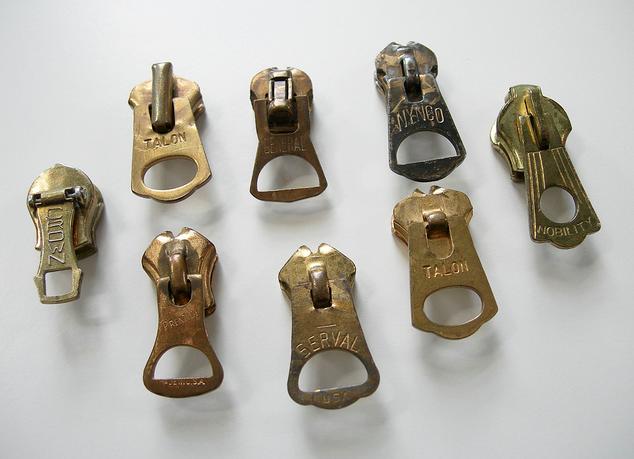 Vintage Zipper Pullers Denim Jewelry Workwear Vintage Vintage Accessories