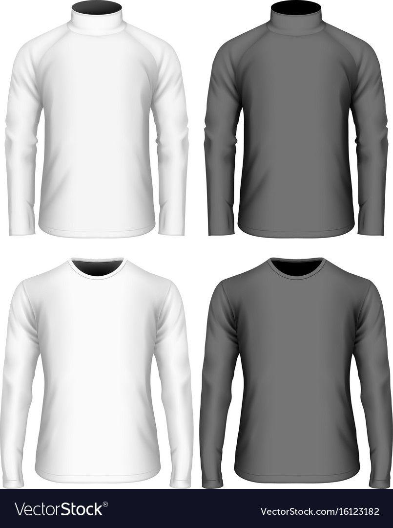 Download Mens Long Sleeve T Shirt Royalty Free Vector Image Affiliate Sleeve Shirt Mens Long Ad Men S Long Sleeve T Shirt Polo Shirt Design Black Shorts Men