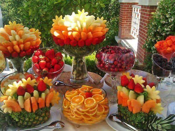 Frutas creativas para buffet o mesa de postres 20 - Mesas para buffet ...