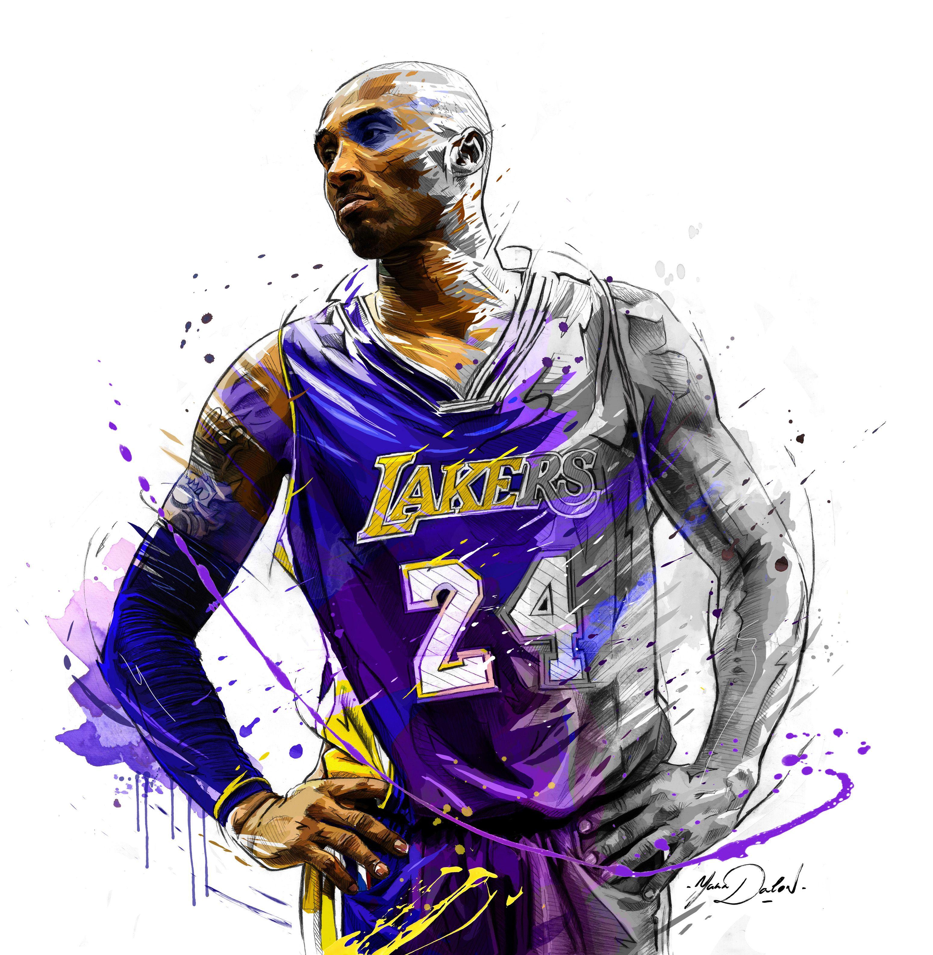 My Painting Of Kobe Bryant.