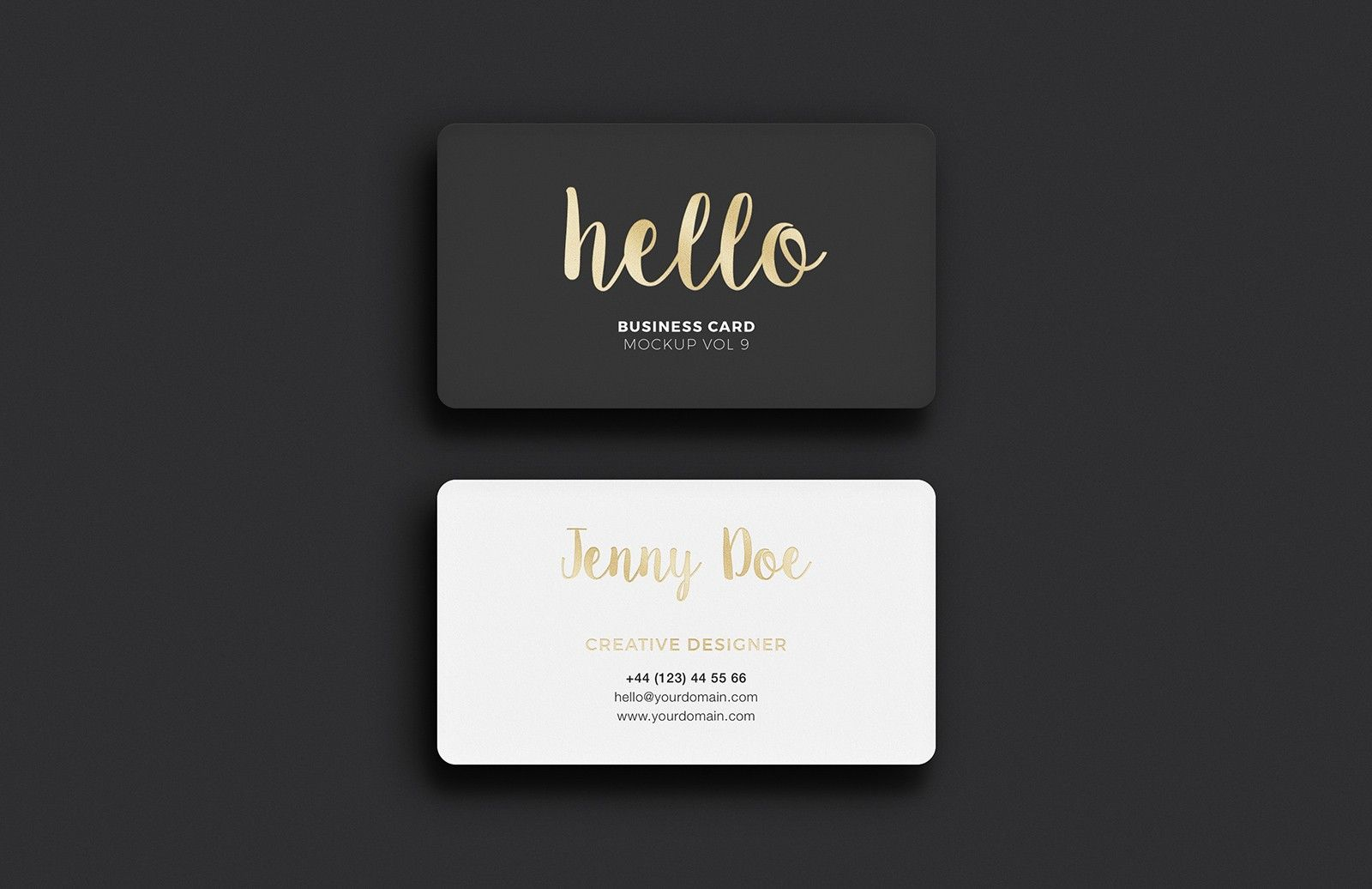 Business Card Mockup Vol 9 | Business cards, Mockup and Business