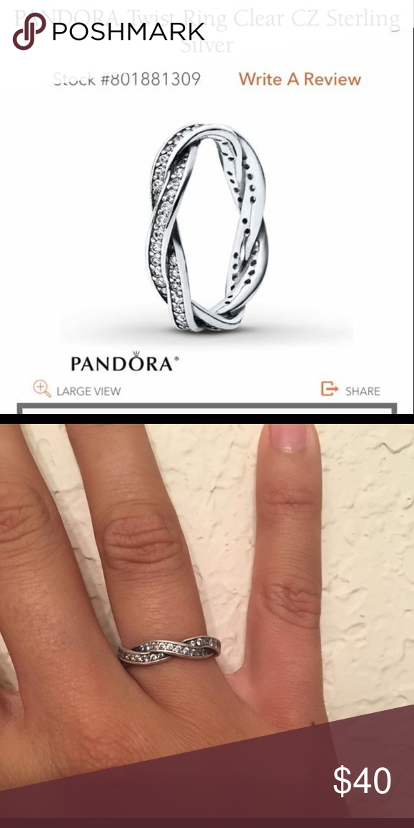 6c4f0f816a72f Pandora twist ring Like new condition! No issues with ring. Price ...