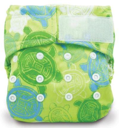 Bumkins Stuff It Cloth Diaper with 2 Minky Inserts Green