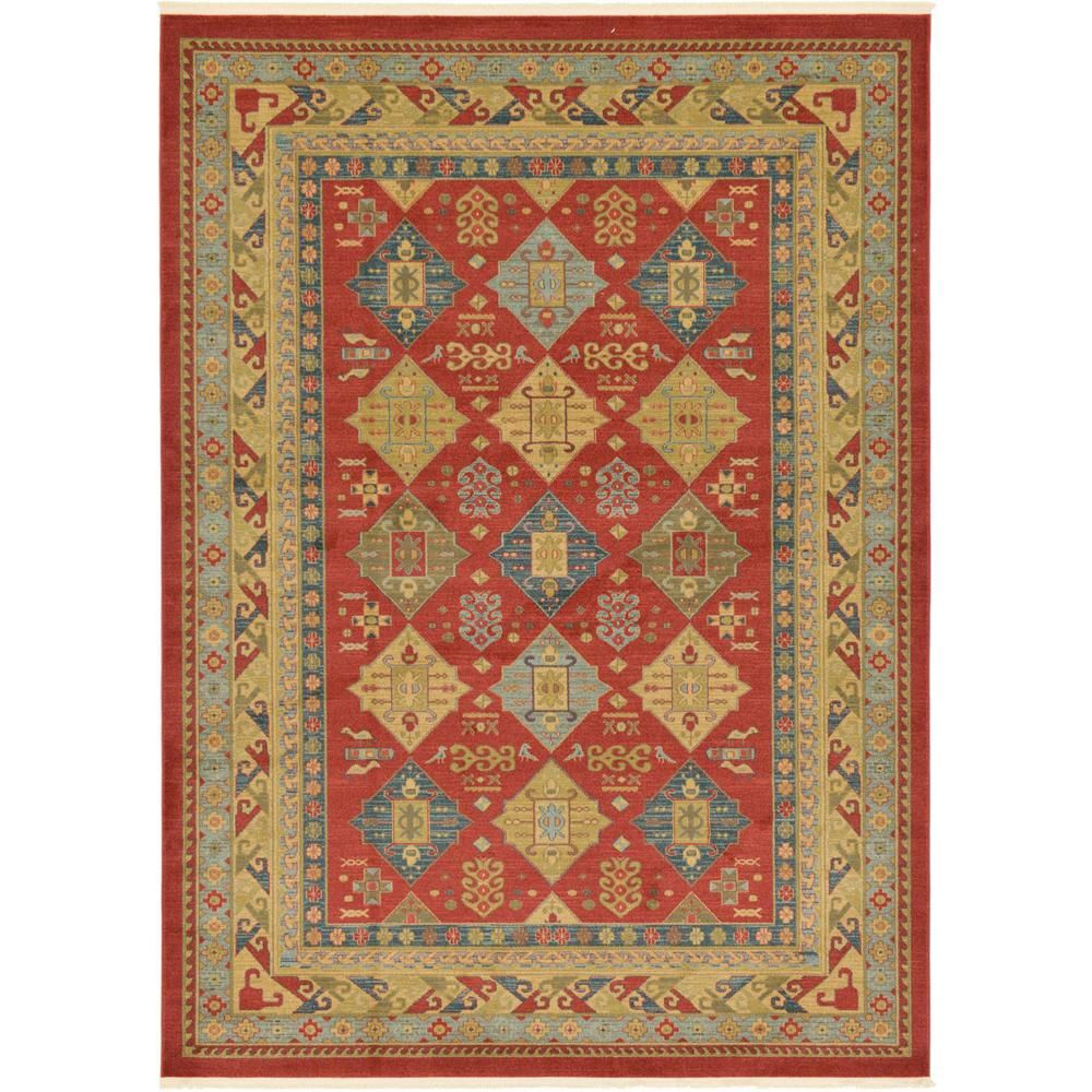 Unique Loom Sahand Xerxes Red 8 0 X 11 0 Area Rug Area Rugs Rugs Synthetic Rugs