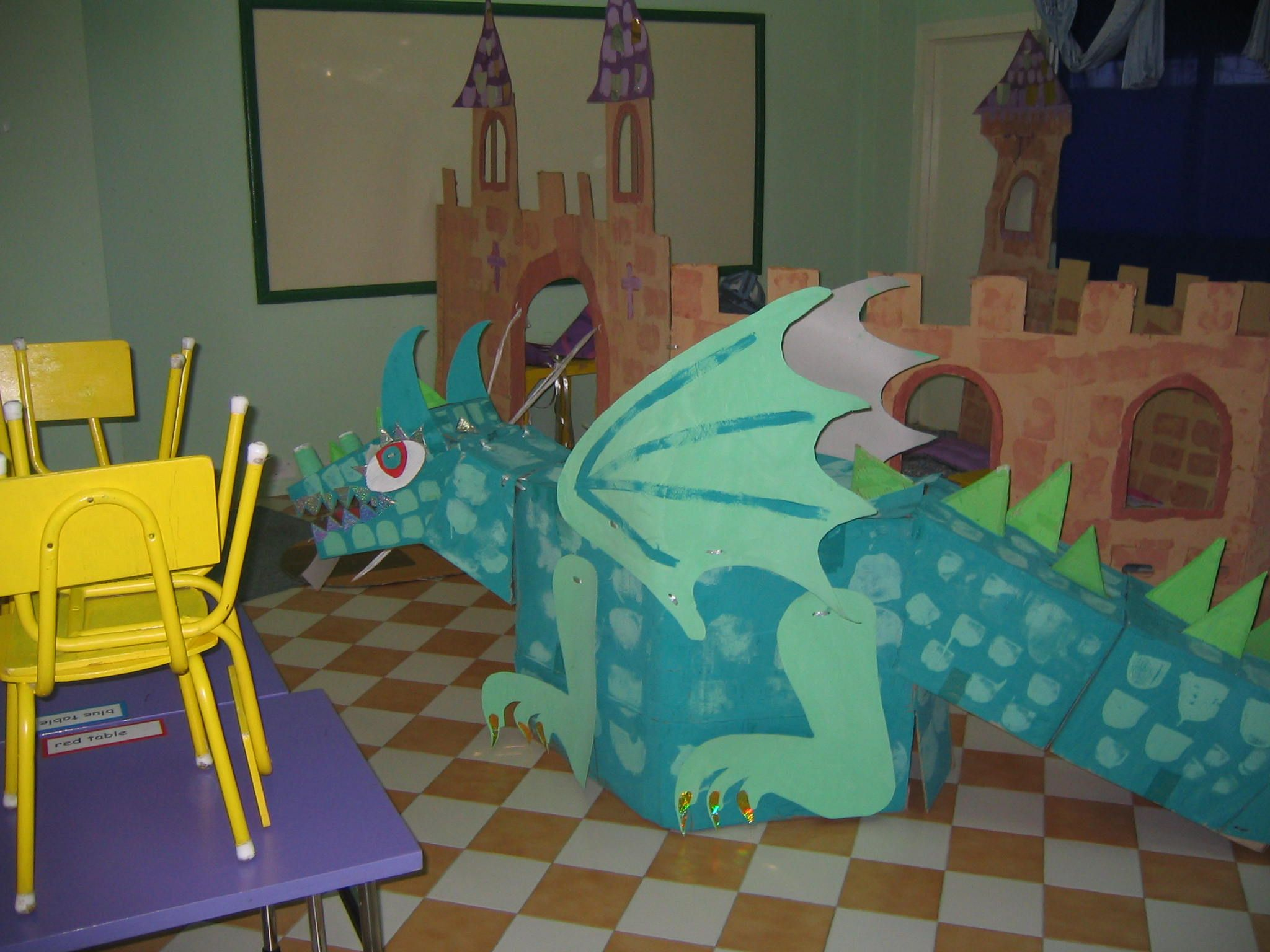 Huge 3D dragon made by Reception children
