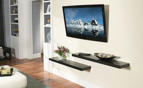 pics of mounted flat screen |  it is wall mounting method of