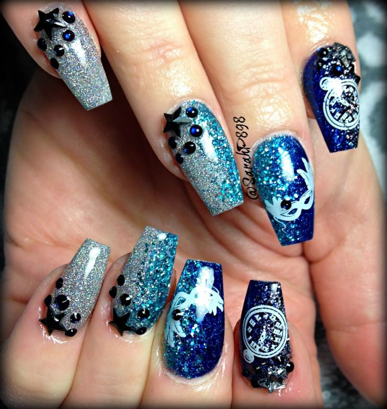 new years coffin nails masquerade mask and stars | S n a t c h e r s ...