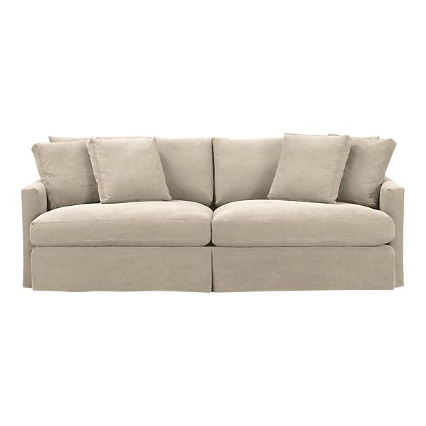This Couch Is 46 Deep And Wonderfully Comfortable Its Slipcovered Too If Only They Made A Slipcover Not Denim For It
