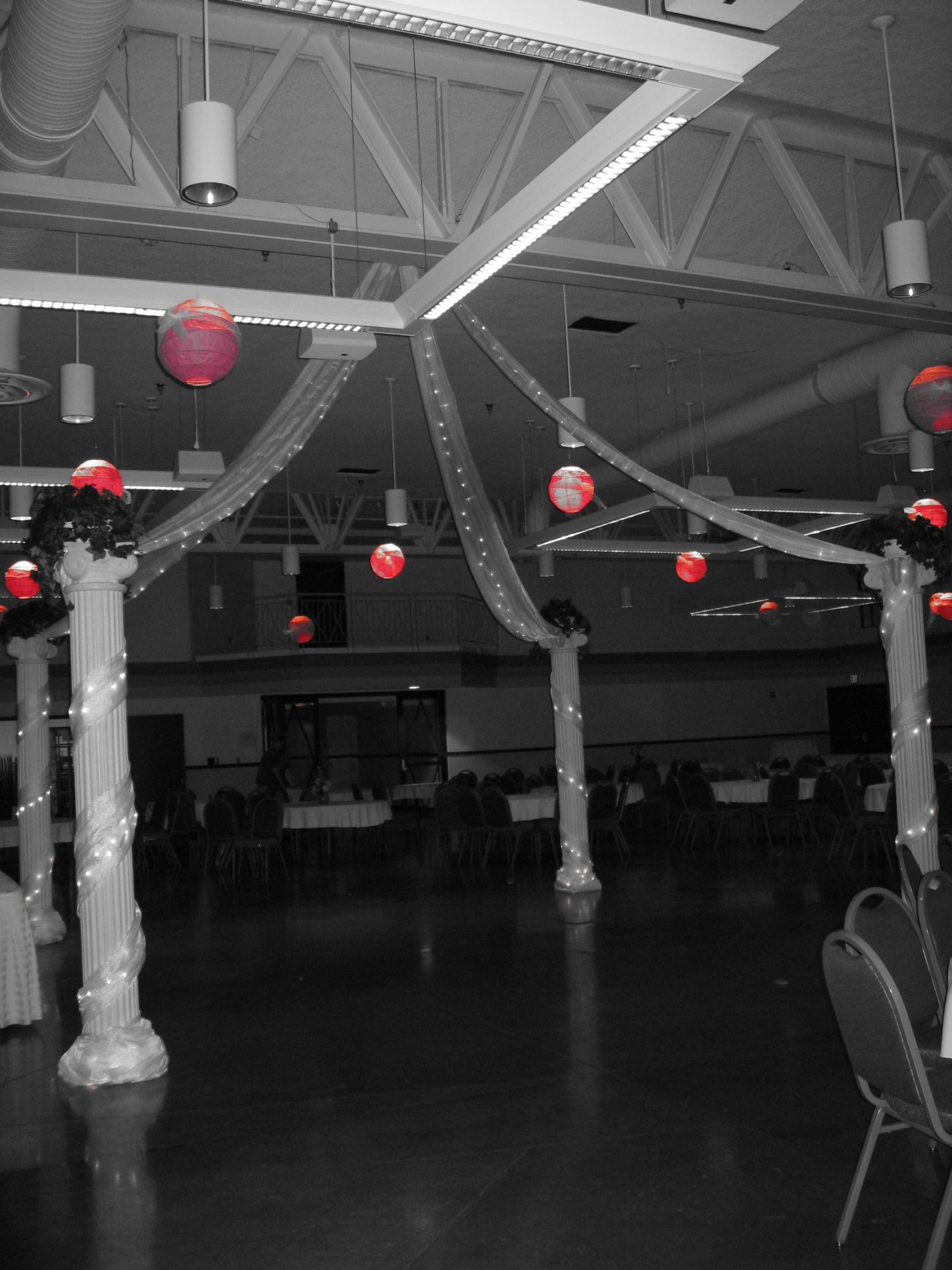 Dancefloor and lanterns party rentals taylor rental