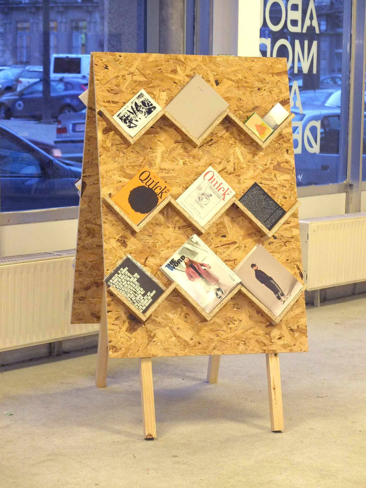 Exhibition Stand Boards : Source theophilespapers paint the board to chalkboard and