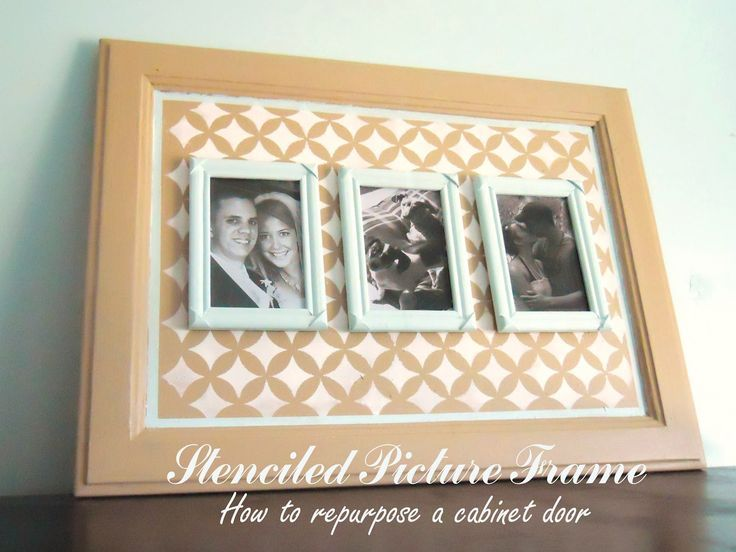 repurposing+old+picture+frames | ... Noted: How to Repurpose an Old Cabinet Door: Stenciled Picture Frame