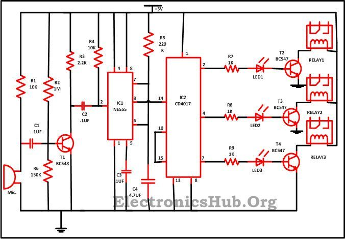 Clap Switch Circuit for Devices Circuit Working and Applications  Connect