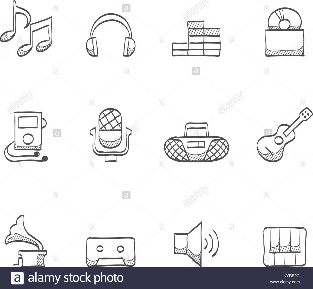 Musik Symbole Musik Symbole Symbole Stockvektor C Orfeev