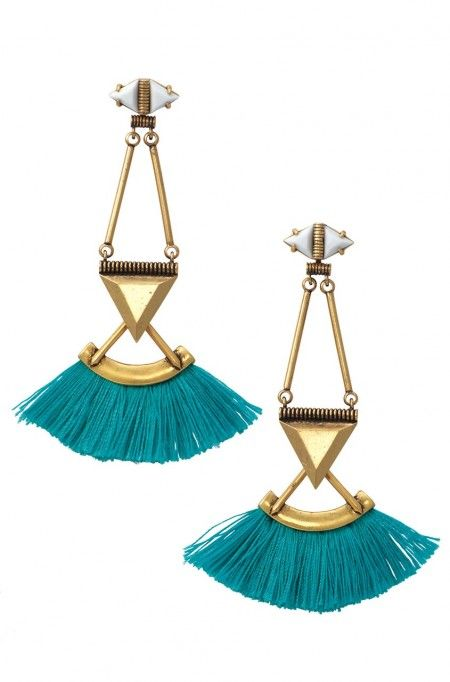 Colorful and bold, the Lotus Tassel Chandeliers will give you the perfect pop of color for spring. Shop tassel earrings at Stella & Dot today.