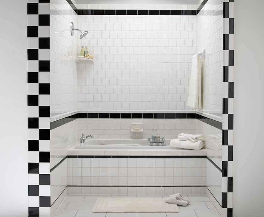 salle de bain carrelage noir et blanc - Recherche Google | Maison ...