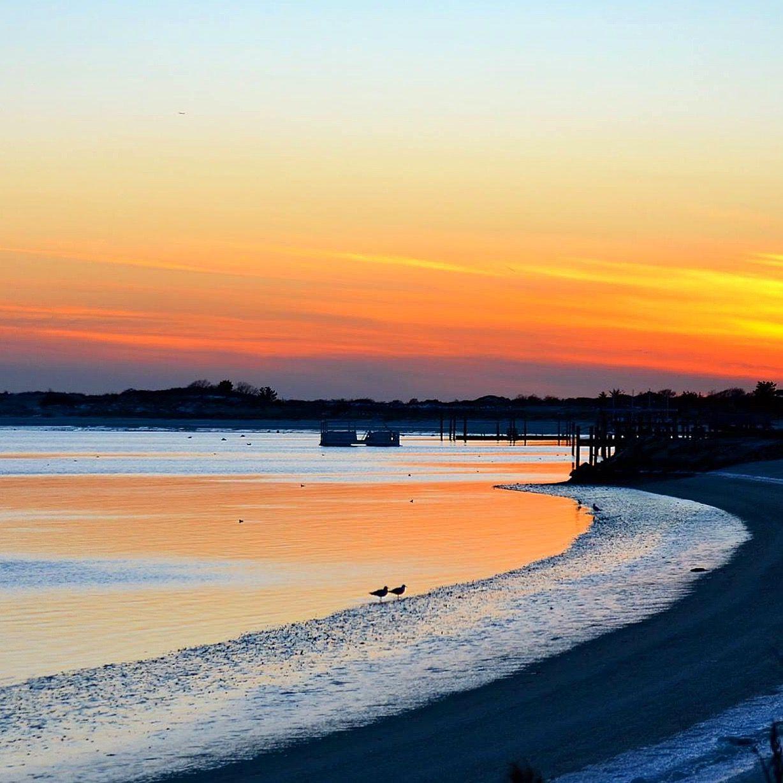 Afterglow On Oak Beach Long Island By April Hughes Kaufman
