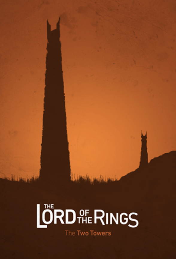 The Lord Of The Rings The Two Towers 2002 Minimal Movie Poster By Andres Asencio Amusemen Movie Posters Minimalist Movie Poster Art Minimal Movie Posters