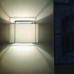 Photo of Metalarte Lewit A18 wall lamp T 18cm black Kvadrat 228 light gray MetalarteMetalarte
