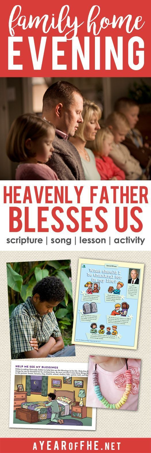 Year 01/Lesson 44 : Heavenly Father Blesses Us #churchitems