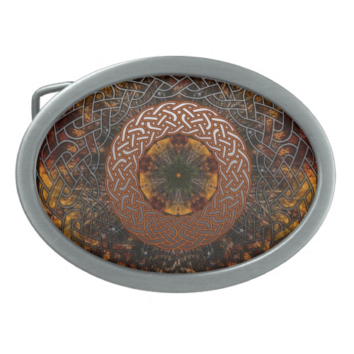 Fall Celtic Knot Circle Belt Buckles