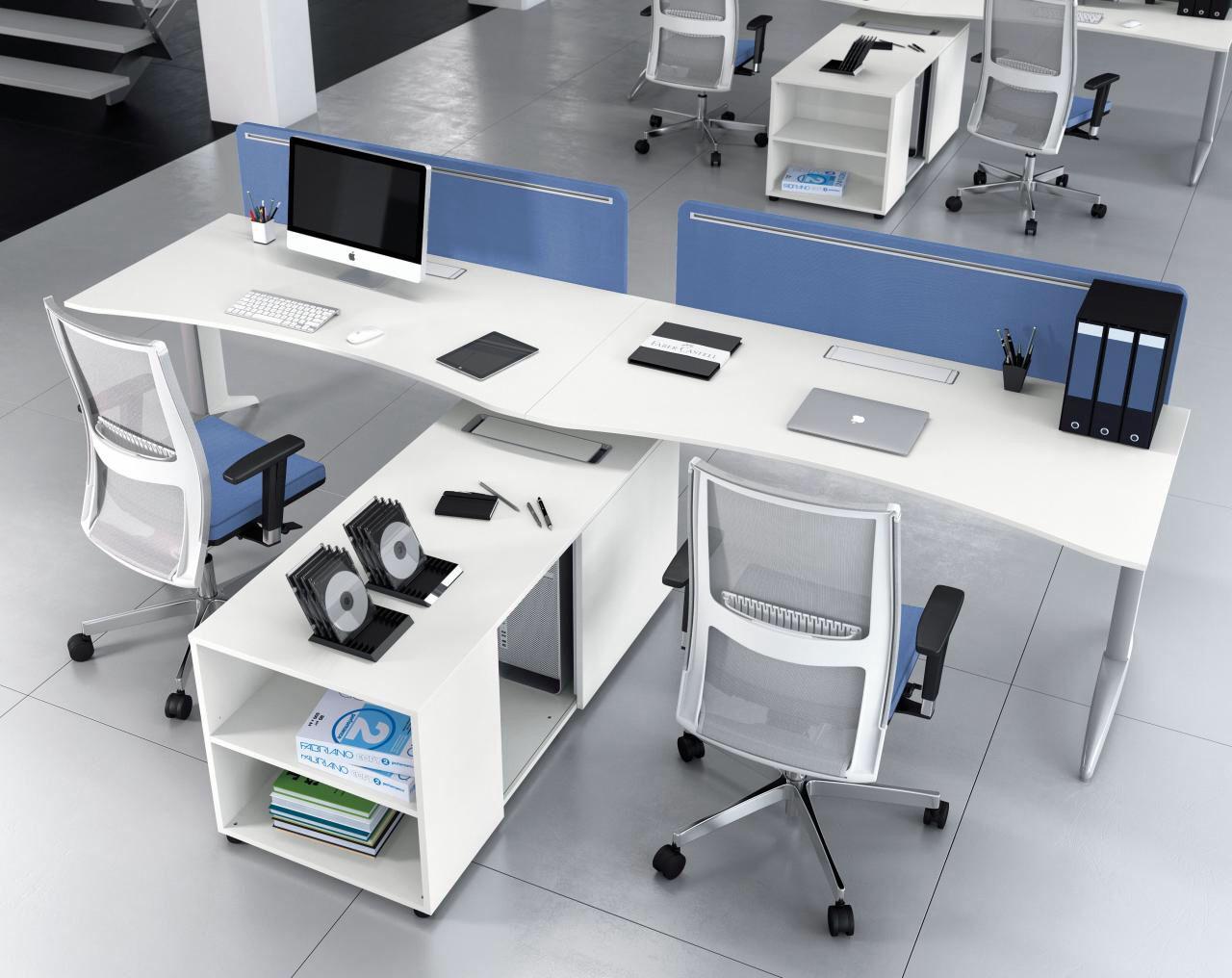 Scrivania Ufficio Doppia : Comp fid composiz doppia postazione per ufficio operativo