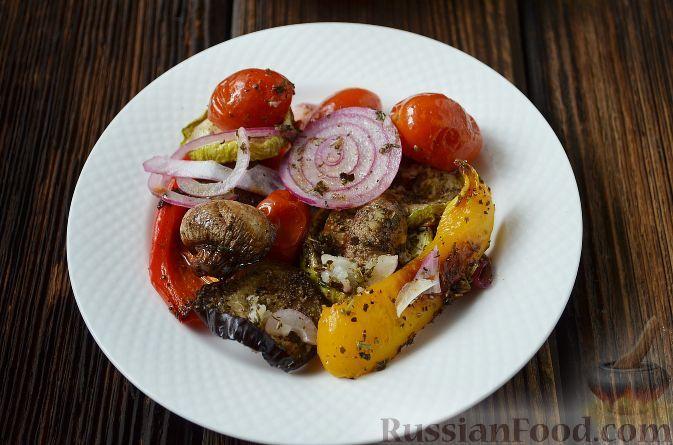 Рецепт Антипасти овощное, cостав: баклажан, кабачки ...
