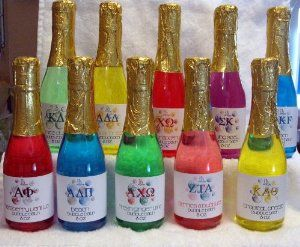 Sorority Celebration Bubble Bath by JB Greek. $7.50. Great Sorority Bid Day, Big/Little, Initiation, or just because you love your sisters!. Conforms to vegan standards - NOT tested on Animals!. Handcrafted in the USA & Hypoallergenic. Hypoallergenic. Officially Greek Licensed. Relax and enjoy a warm tub with some of our fragrant bubbles after a long day when you bathe with our Celebration Bubble Bath! Each plastic bottle is filled with 8 oz. of our famous highly fragrance...