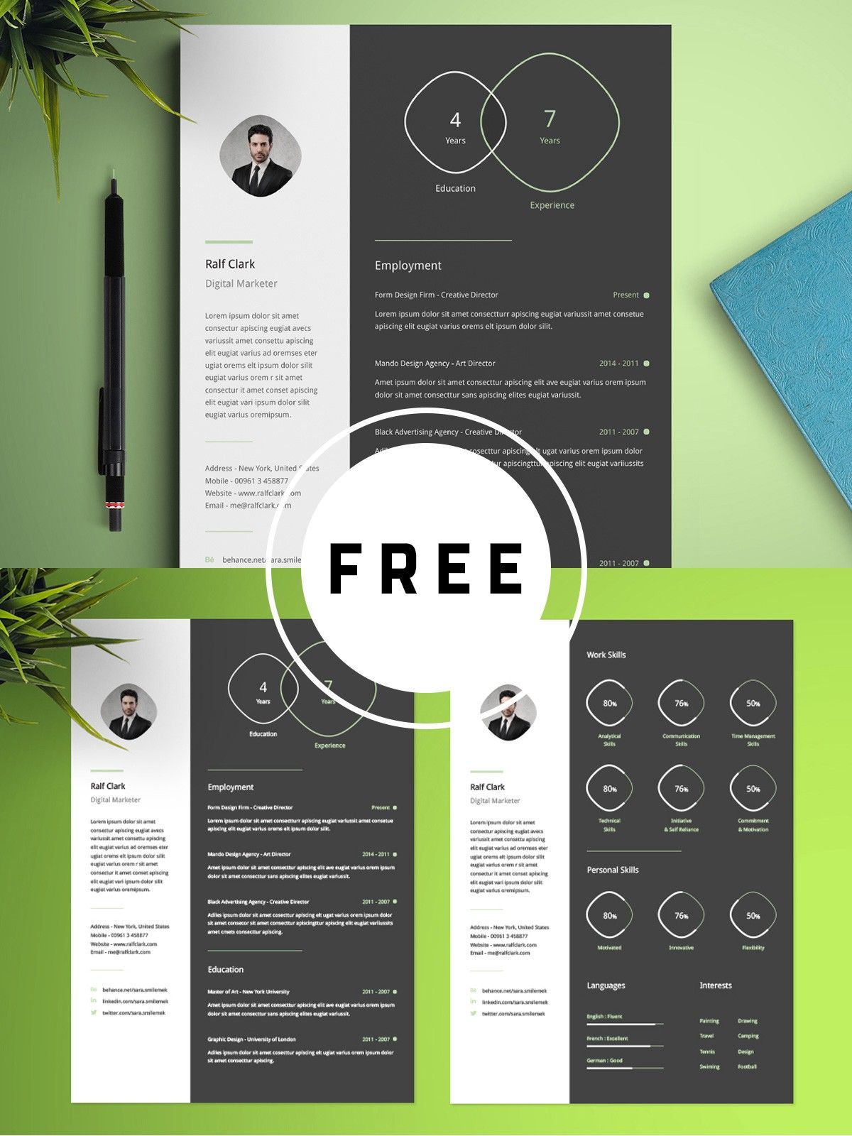 100 Free Best Resume Templates For 2019 (With images