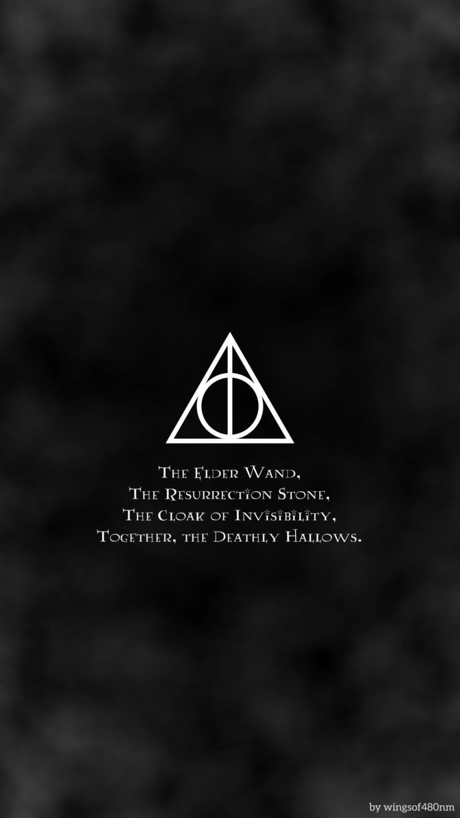 harry potter and the deathly hallows symbol wallpaper phone click