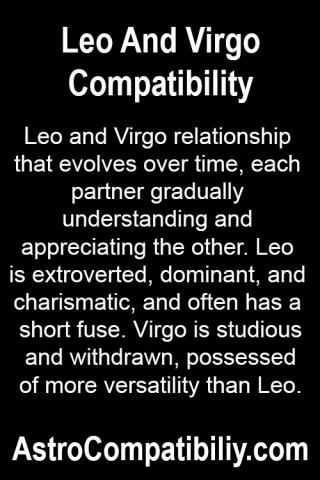 Leo and Virgo relationship that evolves