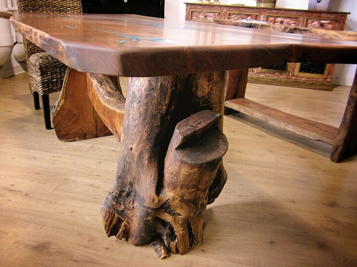 Root Base Mesquite Dining Table Dining Table Rustic Furniture
