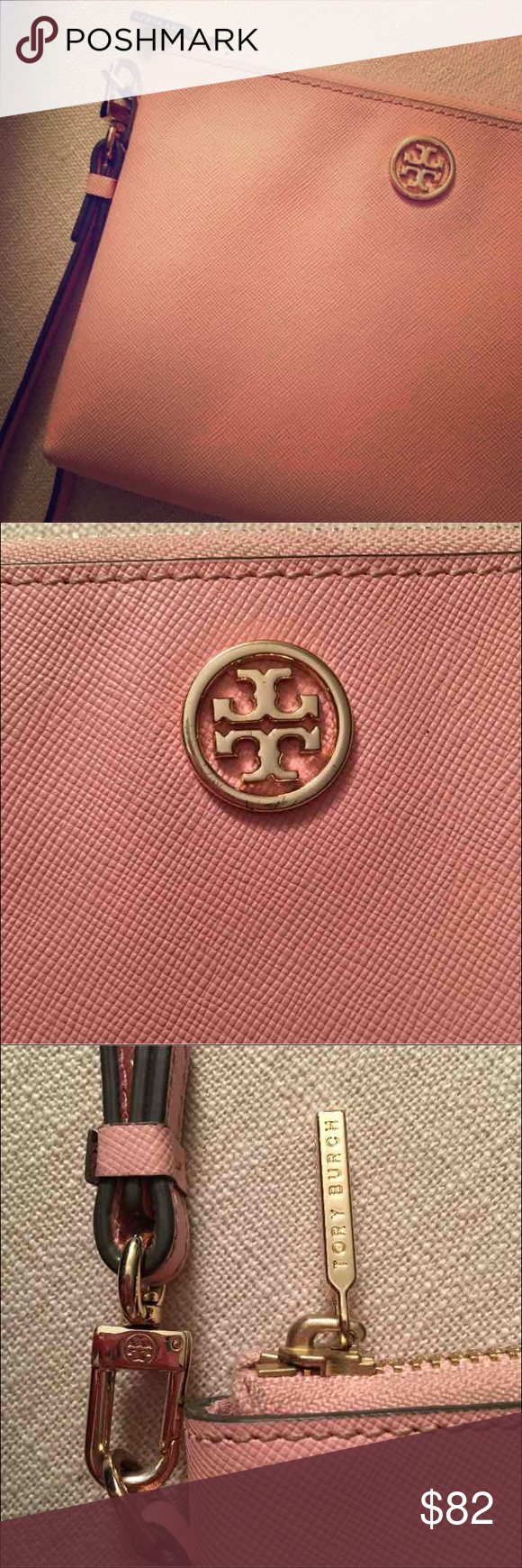 Large Tory Burch Wristlet Light pink Tory Burch Wristlet. Very gently used. Only getting rid of simply because I never carry it!! Tory Burch Bags Clutches & Wristlets