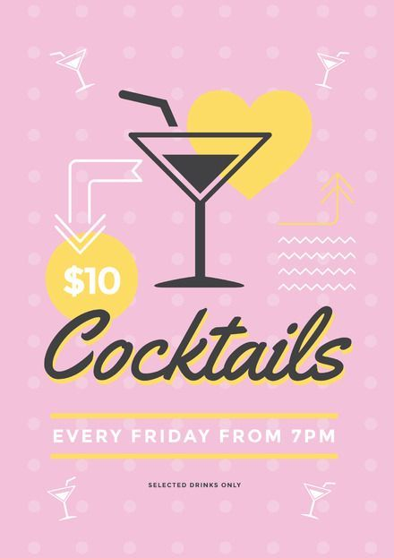 Editable Drink Promotion Poster Templates - DIY with Easil\u0027s tools