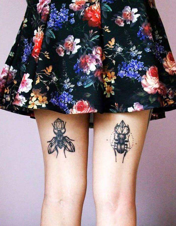Tatouage Cuisse Arriere Tatouage Insecte Tatouage Cuisse Arriere Tatouage Cuisse