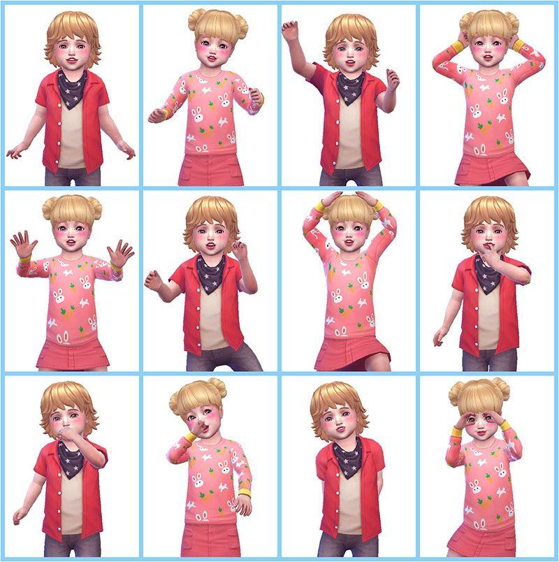 Sims 4 toddler cas cc