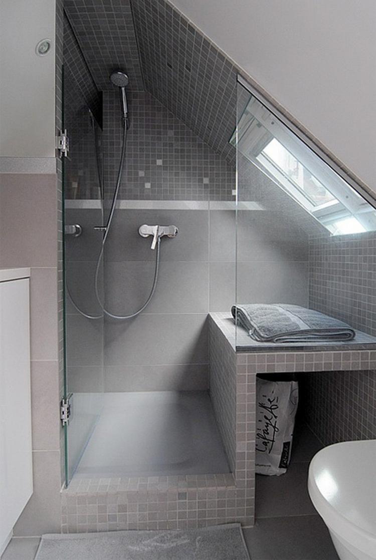 Ideas Under Roof Space Design Small Attic Bathroom Attic Shower Loft Bathroom