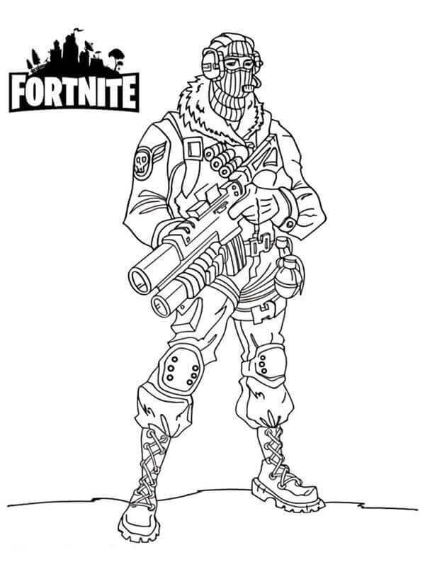 Fortnite Raptor Coloring Page Coloring pages for kids
