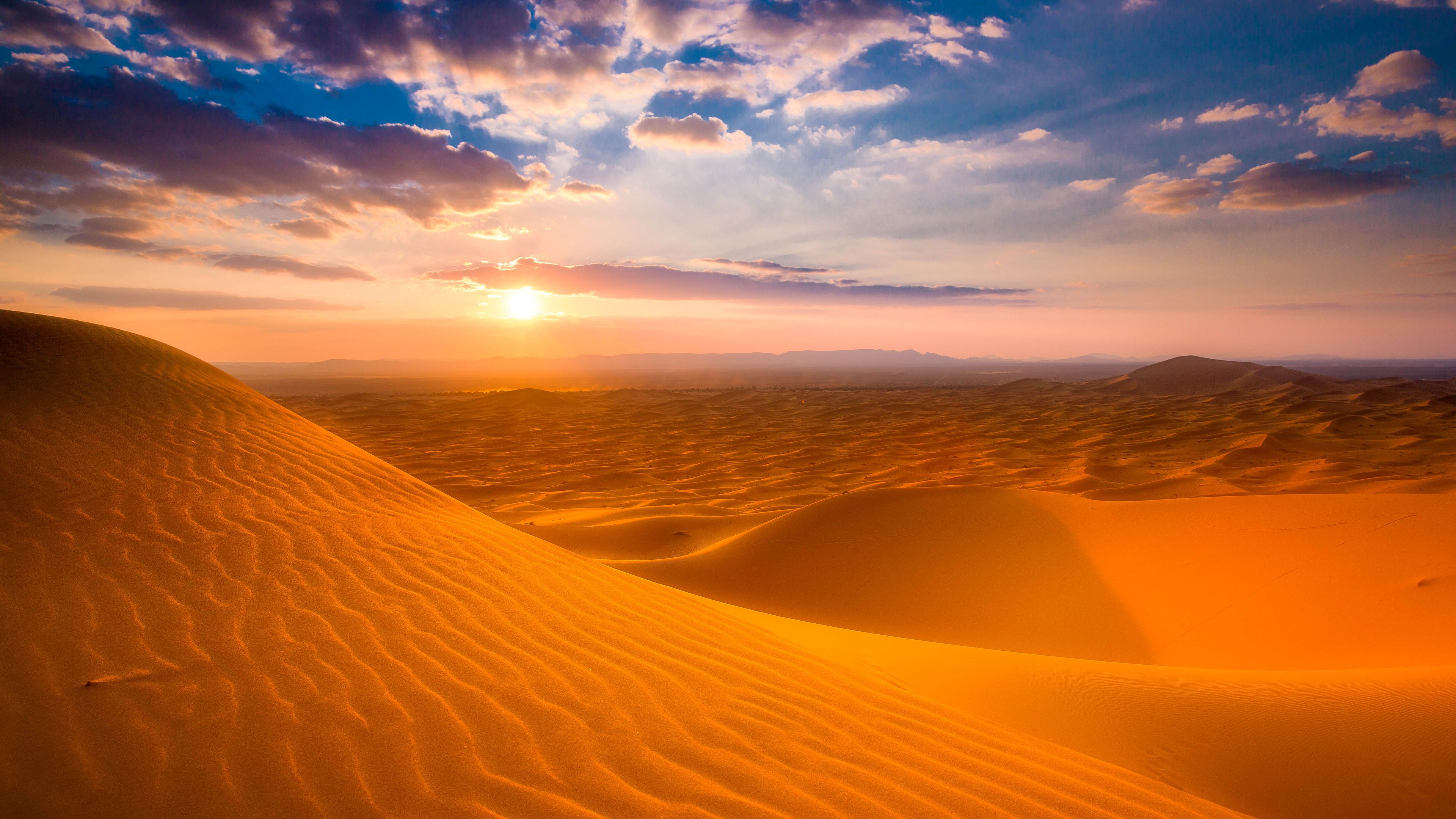 Sahara Desert Sunset Wallpapers Desktop Background High