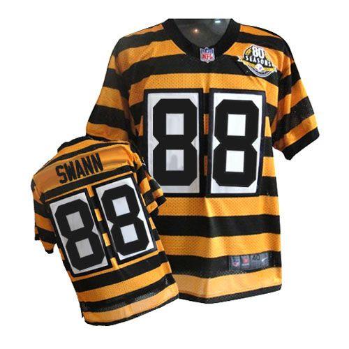 4060d5ac Nike Elite Men's Pittsburgh Steelers #88 Lynn Swann Alternate 80TH  Anniversary Throwback Yellow NFL Jersey $129.99