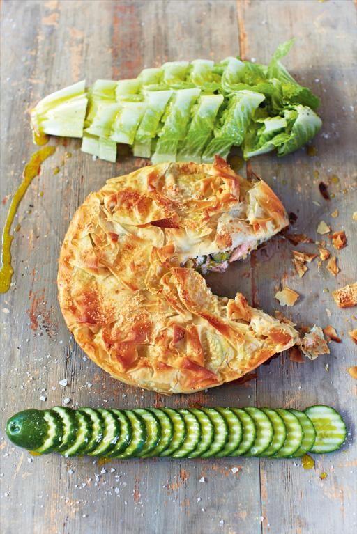 Salmon filo pie recipe jamie oliver filo and salmon for Fish pie jamie oliver